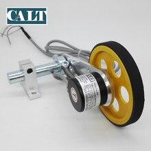 Роликовый измеритель длины колеса, измерительный импульсный роторный энкодер с высоким разрешением, пружинный кронштейн для подъемника, рельсовая ткань, кожа