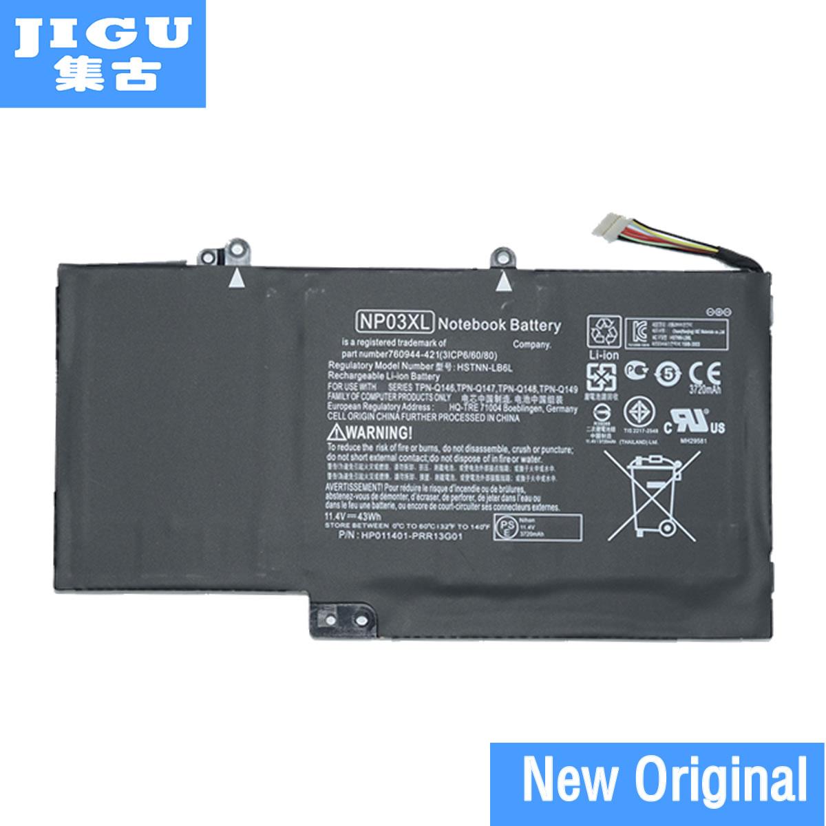 JIGU Original NP03XL batería para HP Pavilion X360 13-A010DX 13-b116t envidia para 15-U010DX 15-U050CA HSTNN-LB6L 760944-421 43Wh