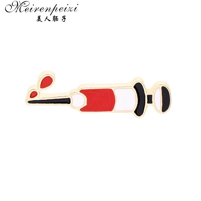 Meirenpeizi tubo de teste seringa aambulance pressão arterial intestinos pinos jóias médicas presente médico enfermeira escola médica jóias