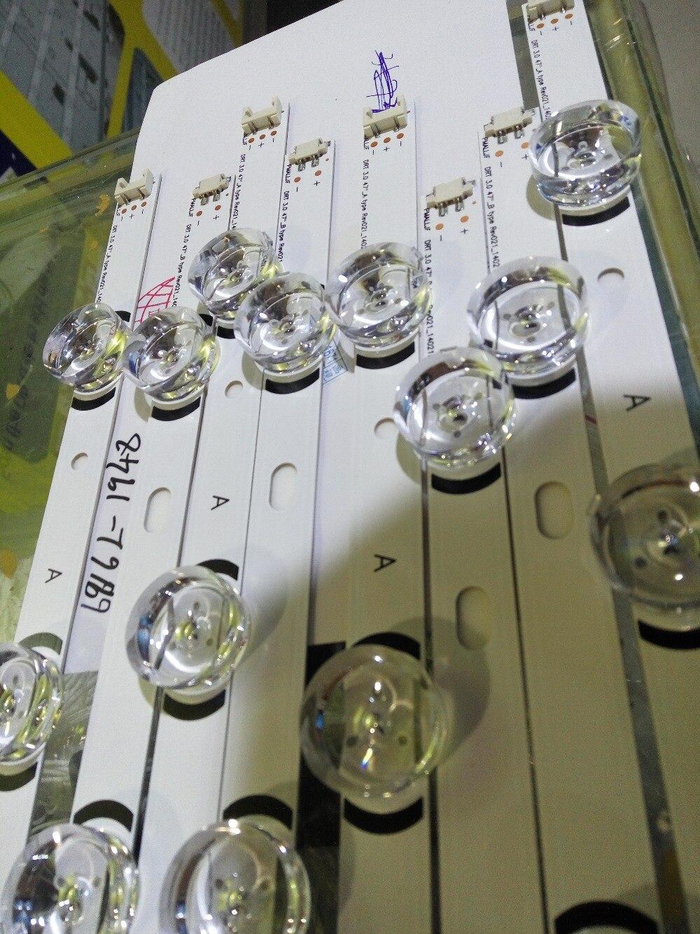 8 adet yeni 5 + 4LED şerit nnotek DRT 3.0 6916L-1948A 6916L-1949A 6916L-1961A 6916L-1962A 6916-1715A 6916L-1716A için 47LB5610-CD