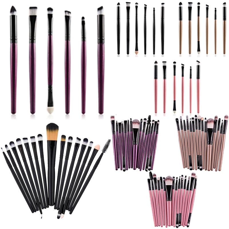 Hot Sale 6/15Pcs Cosmetic Makeup Brush Women Foundation Eyeshadow Eyeliner Lip Make Up Eye Brushes S