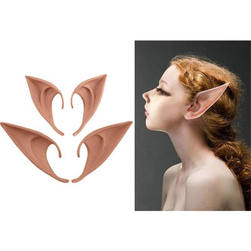 Gran oferta Cosplay Anime Avatar vampiro elfos lindo orejas largas Prop Cos Halloween Navidad Fiesta mascarada disfraz para mujer chica
