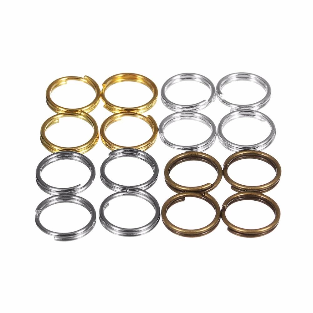 200 unids/lote anillos de salto de cobre 4 5 6 8 10 Mm anillos de rodio de oro Partido para la fabricación de joyas al por mayor