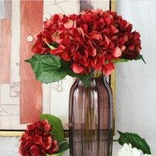 زهرة الكوبية الصناعية الزفاف واحد Hortensia زهرة اصطناعية زهرة الحرير الأقواس عيد الميلاد ديكور المنزل الزهور