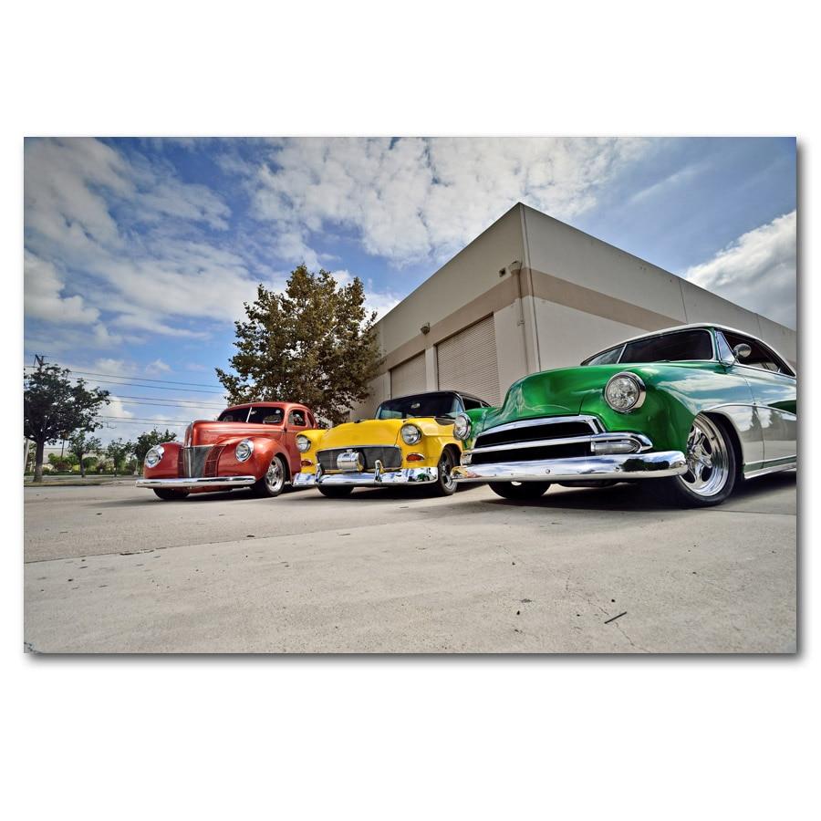 Coupe Chevrolets Coupe Street Rod Retro Vintage coches pared arte carteles impresiones en lienzo pinturas de arte para decoración para sala de estar