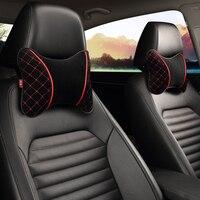 Car Neck Pillow Cushion Headrest Pillow 2PCS Memory Foam Bone Neck Pillow Auto Seat Cover Headrest Neck Pillow Plush