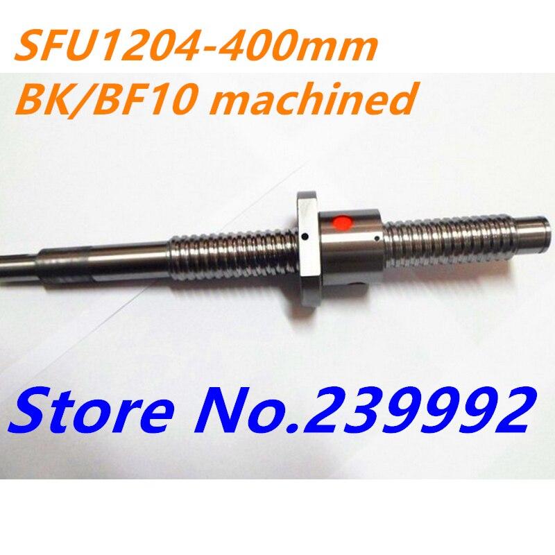 SFU1204 400 مللي متر C7 توالت الكرة المسمار RM1204 L 400 مللي متر المسمار مع SFU1204 واحدة الجوز ل نك أجزاء BK/BF10 تشكيله