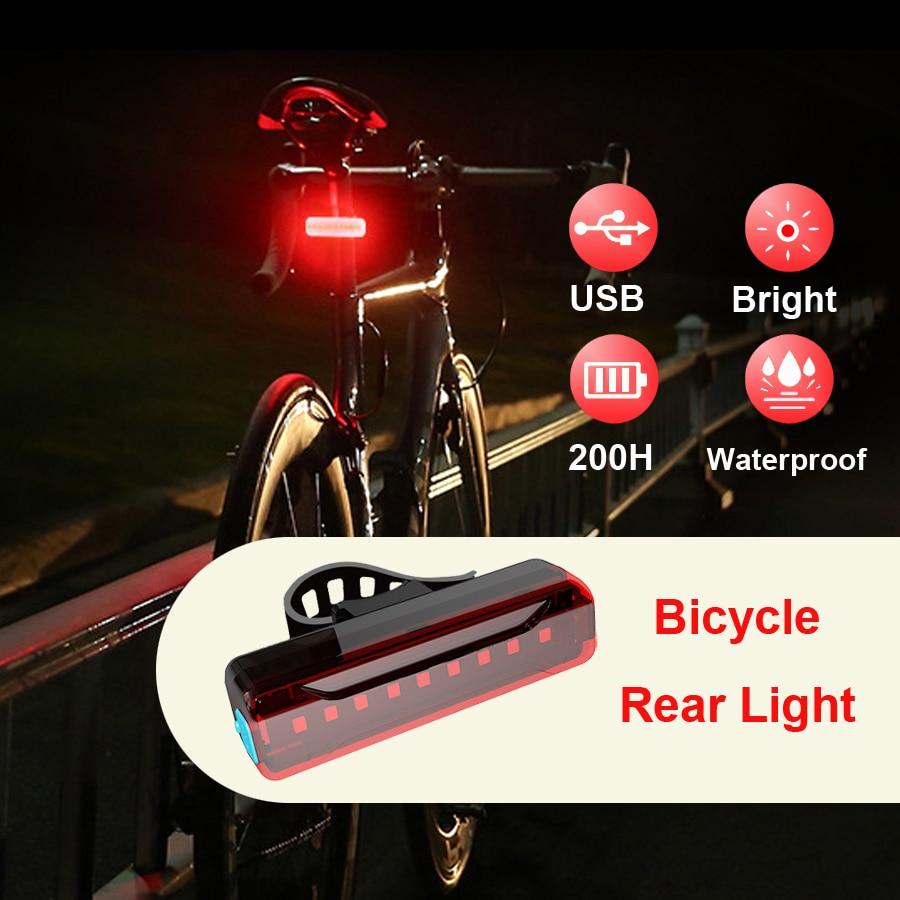 NEWBOLER 2600 mAh LED טאיליט אופניים USB נטענת בטיחות אזהרת אור אופניים אחורי זנב אור אור פנס לאופניים