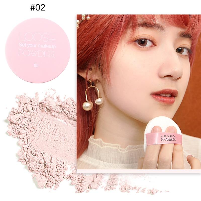 Maquillaje polvo suelto maquillaje facial impermeable mate polvo piel acabado belleza herramienta QRD88