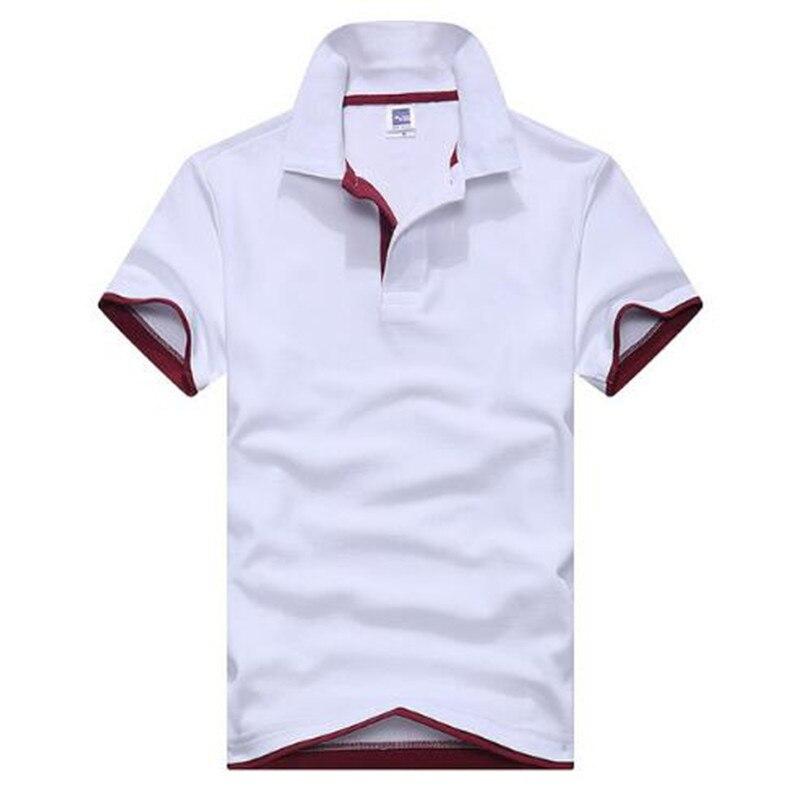 ¡NOVEDAD DE VERANO 2019! camiseta Polo de manga corta con cuello vuelto informal de verano para hombre en 15 colores