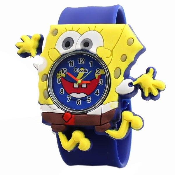 wholesale boys childrens Clock tape multicolor pat jelly cute slap watch men kids SpongeBob SquarePants explosion gift
