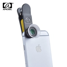 APEXEL 2 in 1 Premium Camera Lens voor iPhone en Android met Macro lens 12X & 24x lens APL-24XM