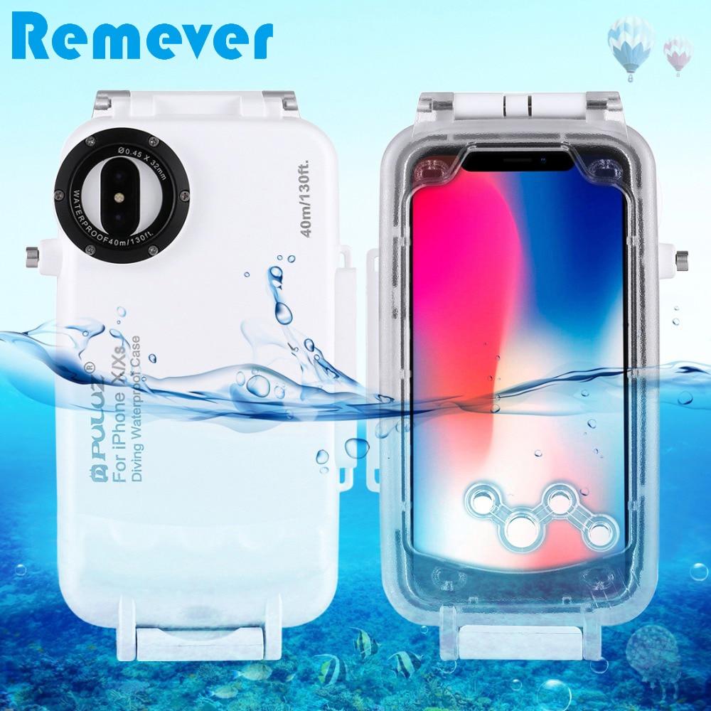 Nueva funda para iPhone X/XS carcasa subacuática 40 m/130ft buceo foto Video funda protectora de teléfono para nadar Surfing snorkel