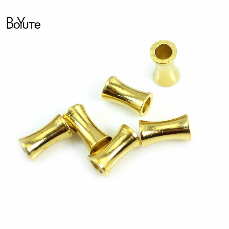 Boyute 200 pçs metal latão 3*5.5/4*6/6*10.5mm contas de bambu jóias fazendo diy feito à mão acessórios