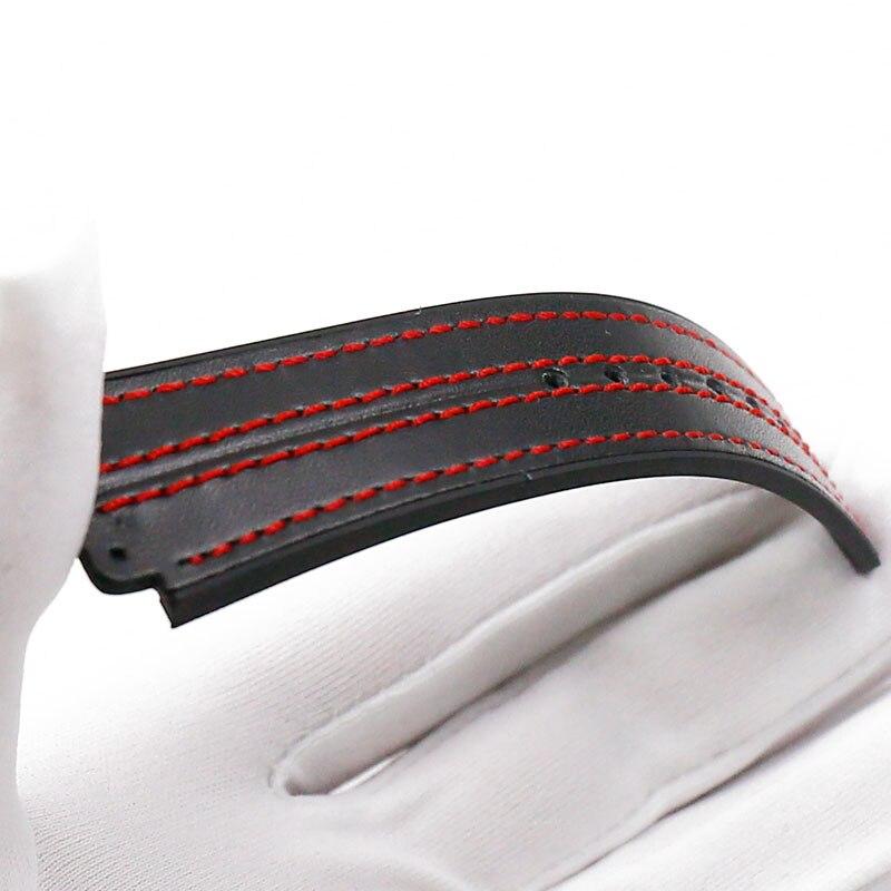 Купить с кэшбэком Leather strap men's watch accessories buckle for HUBLOT big bang rubber strap waterproof sports bracelet watch band 19mmx25