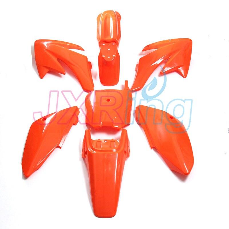 Cubiertas plásticas CRF70, kits de carenado CRF70 Pit Bike Procket Bike Xmotos Baja DR50 49 50cc 70 90 110 nuevo PP4 naranja
