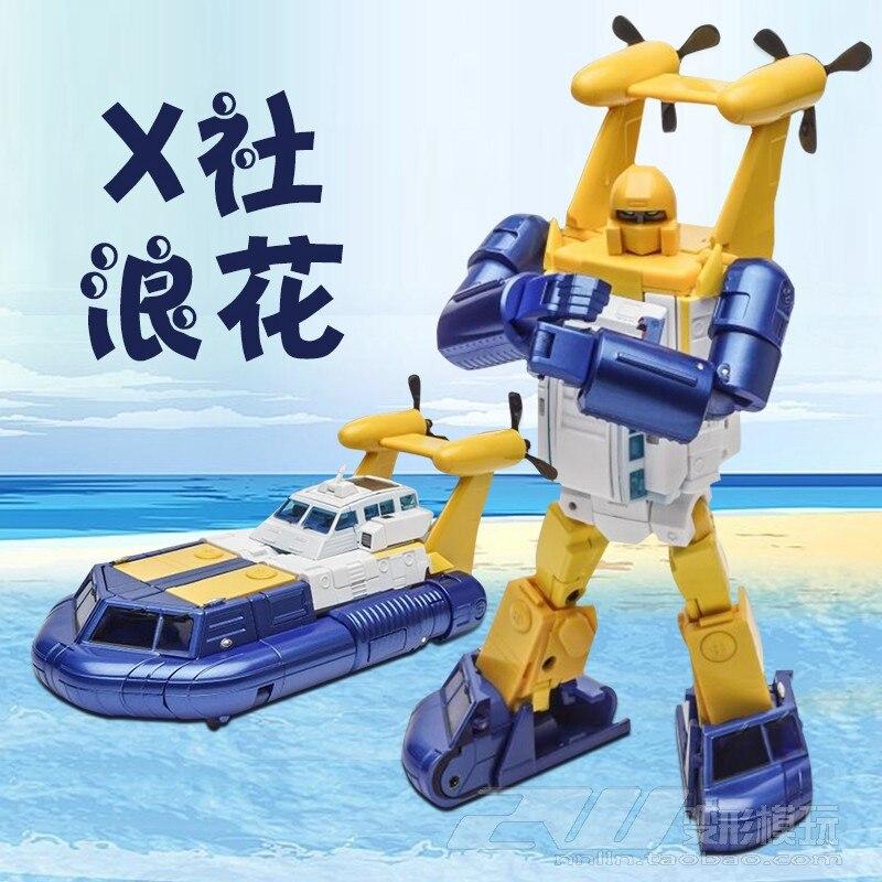 Transformación X-Transbots X Agencia MX-XII Neptuno de figura de PVC en miniatura chico Juguetes
