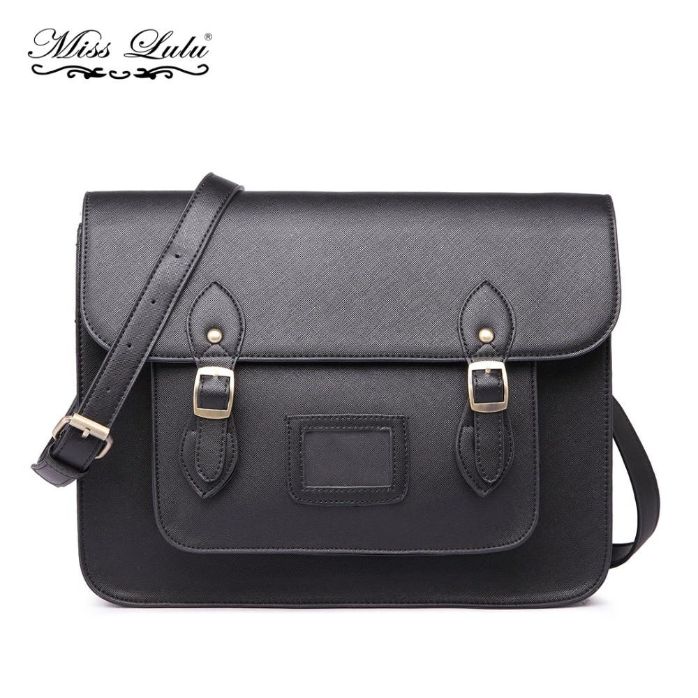 Miss Lulu femmes sacs de messager Crossboby sac à bandoulière sacs décole pour filles garçons cuir synthétique grande sacoche noir LT1665