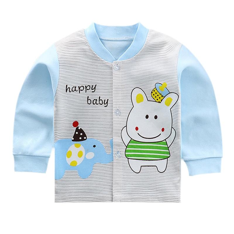 Luna Blanco Cotton Infant Boy jacket  Autumn Baby Boy newborn jacket coats O-neck Fall girls outerwear Unisex Baby Clothing
