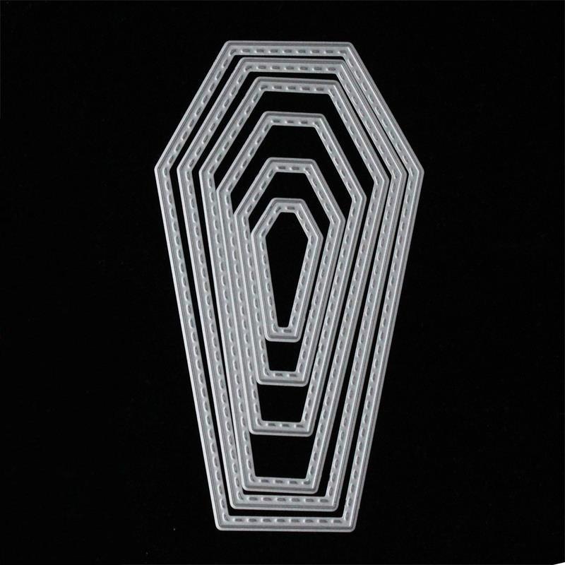 KSCRAFT 2018 New Halloween Coffin Frame Metal Cutting Dies Stencils for DIY Scrapbooking Decorative Embossing DIY Paper Cards