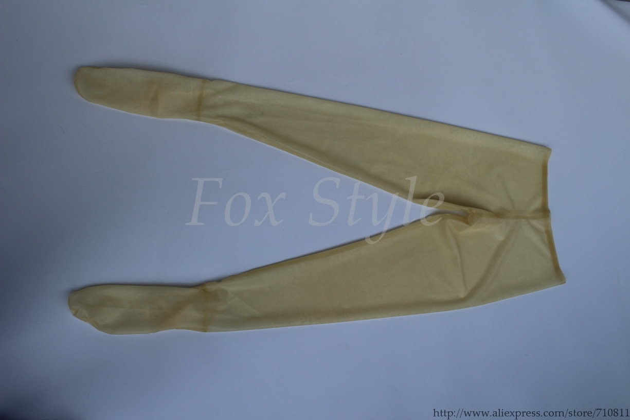 Transparent Latex leggings 0.3mm thickness rubber with holes on crotch