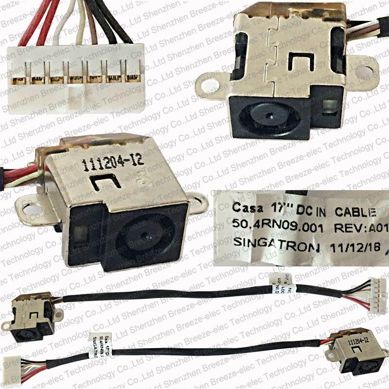 ¡Novedad! 5 unidades por lote, auténtico conector de toma de corriente AC DC para ordenador portátil, para HP Pavilion DV6-6000 DV7-6000 50.4RN09.001