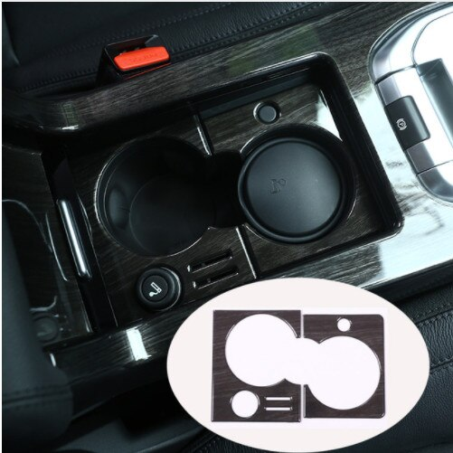 Para Land Rover Discovery Sport 2015-2017 oscuro grano de madera Accessoreies Copa titular marco de la cubierta de pegatinas