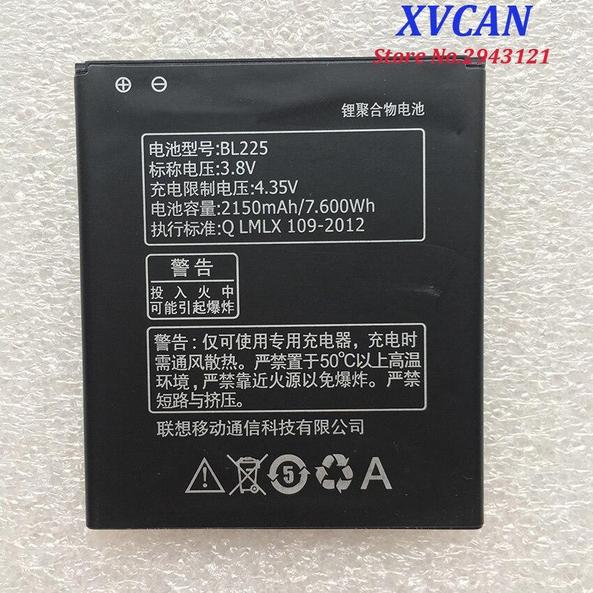 Para Lenovo 2150Mah BL225 Original Li-ion reemplazo de la batería para Lenovo A858T A785E S8 S580 A708T A628T teléfono inteligente