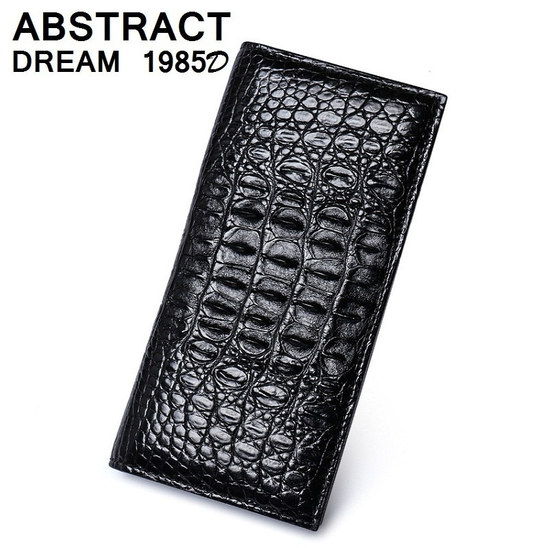100% men real Alligator skin Black Suit luxury wallet real leather wallets designer Classic Business men's fashion casual purse