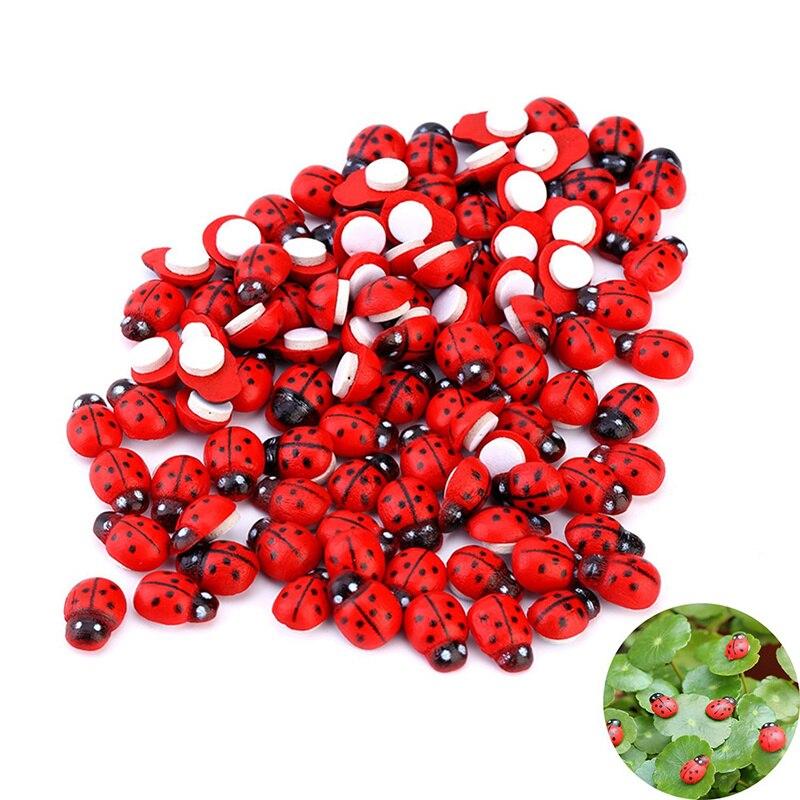 ¡Novedad de 100! Mariquitas, decoración para el hogar, Vintage, Micro bonsái, mariquita, decoración para el jardín de hadas, embellecedor, artesanía para bonsáis