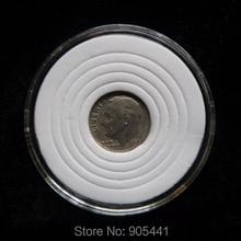 10 عملات حامل الكبسولة عملة حماية حالة صالح لل US Dime صالح لل قطر 17 مللي متر 22 مللي متر 27 مللي متر 32 مللي متر 37 مللي متر إسفنج أبيض مستدير