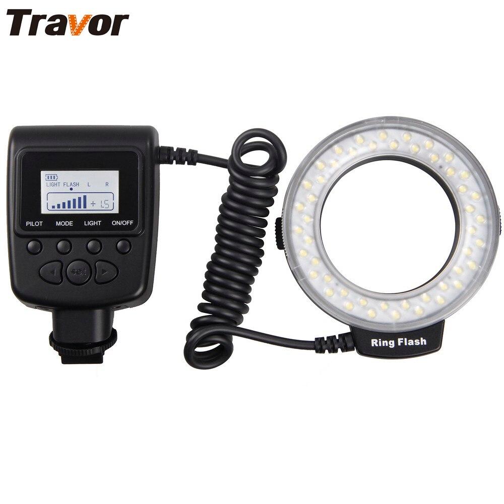 Travor Macro 48 stücke LED Ring Flash Licht RF550D Für Canon Nikon Panasonic Pentax Olympus DSLR Kamera