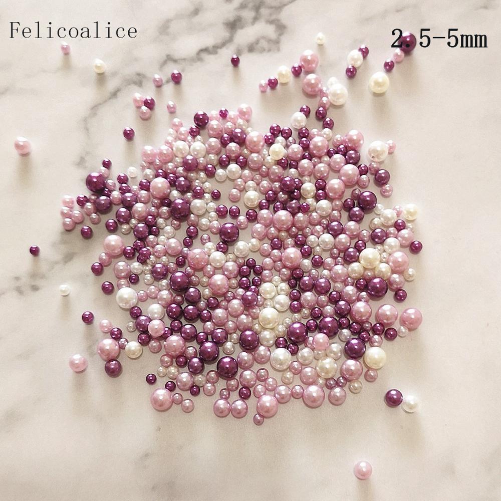 10g 2,5-5mm cuentas para pecera suministros de masa viscosa DIY Glitter perlas limo relleno mullido decoración A-B gradiente de Color accesorios para Slime
