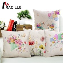 Miracille-housses de coussin motif papillon   Jolie sacoche florale, couleur printemps, en forme de cœur, pour décoration de la maison, cadeau idéal pour enfant