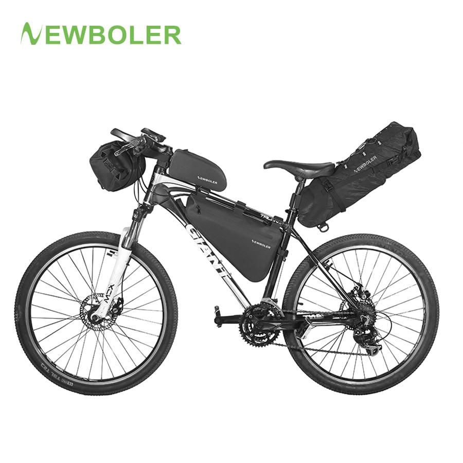 NEWBOLER Bicycle Bag Waterproof Bike Touring Trunk Pack Saddle bag Bikepacking Gear Front Top Tube B