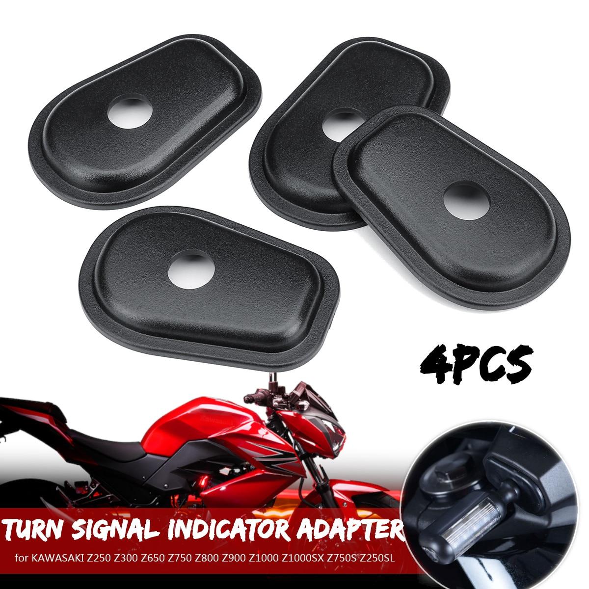 4pcs Motorcycle Turn Signal Indicator Adapter Spacers for KAWASAKI Z250 Z300 Z650 Z750 Z800 Z900 Z1000 Z1000SX Z750S Z250SL