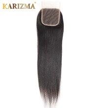 Perruque Lace Closure wig Remy naturelle lisse-Karizma   Couleur naturelle, 8-20 pouces, 4x4, 100% cheveux humains, partie libre, partie centrale