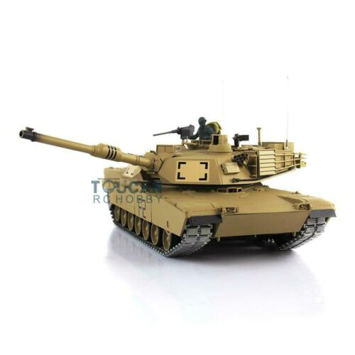 2.4g henglong 1/16 escala 6.0 atualizado metal ver m1a2 abrams rtr rc tanque 3918 th12938