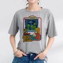 Abbigliamento coreano anni 90 Vintage Tshirt donna anni 80 Tumblr T-shirt femminile donna divertente Streetwear Ladies Jennys New Friends Tee Shirt