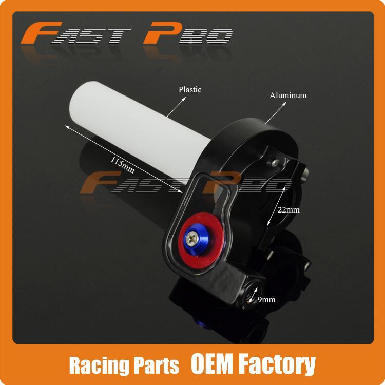 Abrazadera para Acelerador de plástico con agarre de aluminio para motocicleta Pit moto de cross Motocross ATV todoterreno Quad