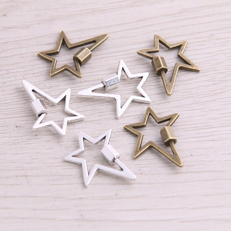 18 pces 20*24mm dois cores metal liga de zinco pentagrama encantos apto jóias pingente encantos makings