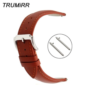 18mm 20mm 22mm Quick Release Watchband for Seiko Men Women Watch Band 1st Layer Genuine Leather Strap Wrist Bracelet Black Brown