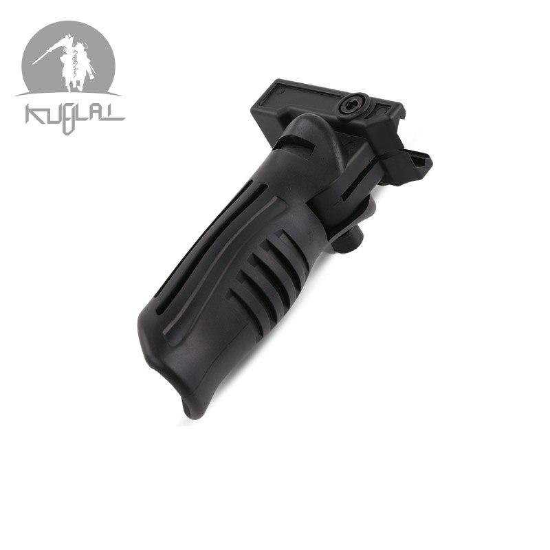 Outdoor Sports Game Model Lol Nylon Tactical Handle M4 Handle Duckbill AK Handle Folding Handle MP7 Gel Blaster  Accessories