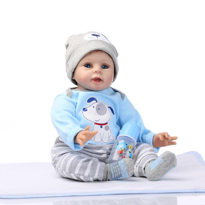 22 дюйма, силиконовая кукла reborn, 55 см, виниловая кукла для новорожденных, игрушки для девочек, настоящая кукла, игрушка для детей, подарок, кра...