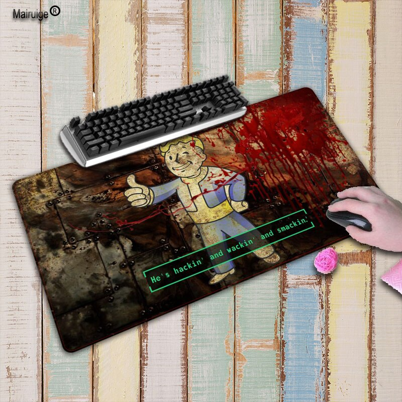 Mairuige Fallout 4 alfombrilla de ratón grande para juegos alfombrilla de ratón para ordenador portátil teclado almohadilla de escritorio para Dota 2 ratón de LOL