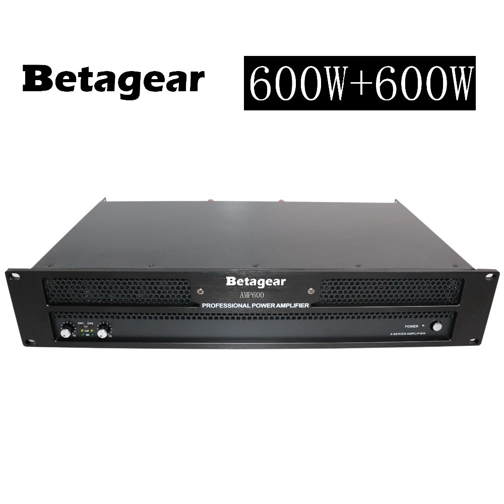 Betagear-amplificador DE POTENCIA profesional, 600W + 600W, RMS / 4ohm:1000W + 1000W,...