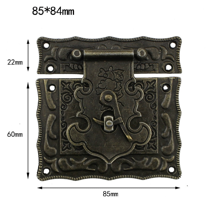 3 größe Antike Box Latch Haspe Platz Bronze Holz Fall DIY Schmuck Box Schließe Haken Schnallen Schlösser