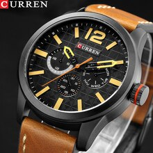 Relogio Masculino Big Dial Men CURREN Watches Top Luxury Brand Black Quartz Military Wrist Watch Men Clock Men's Sports Watch