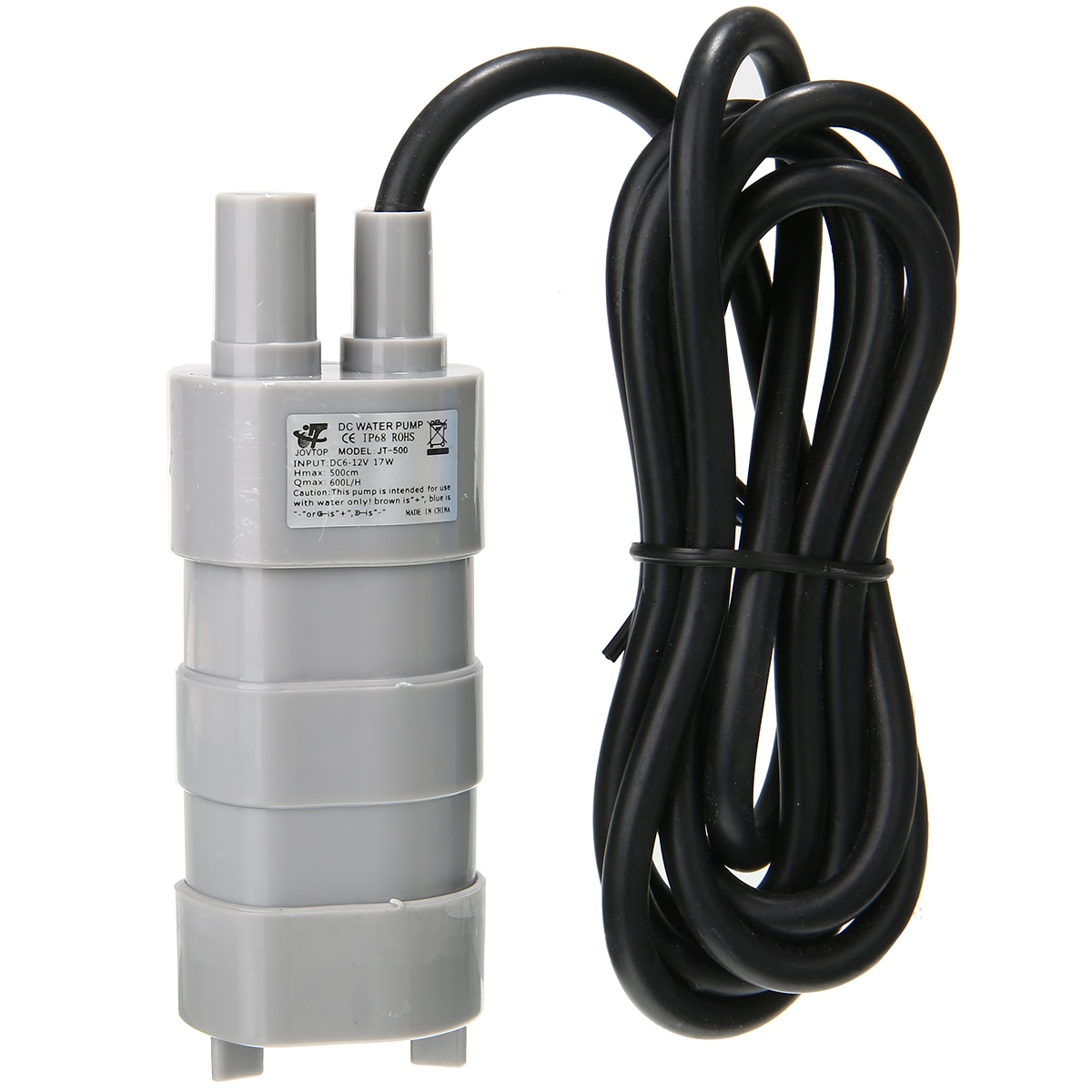 600L/H 12V High Flow Water Pump Submersible Water Pump 5M For Fish Tank Change Water Camper Caravan Motorhome