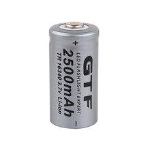 GTF 3,7 V 2500mAh Lithium Li-Ion 16340 Batterie CR123A Akkus LI-ION für Laser Stift LED Dropshipping